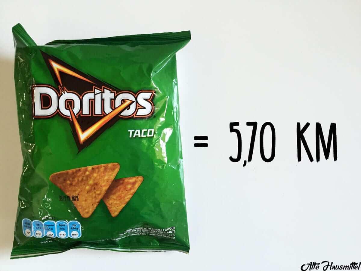 wie lange joggen um chips zu verbrennen